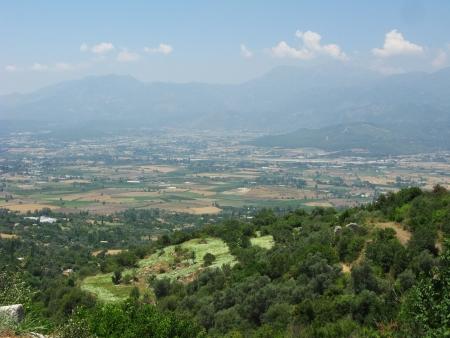 fethiye: green meadows and fields in fethiye turkey