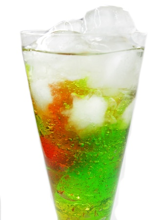 cruchon: alcoholic cruchon cocktails with ice and mint
