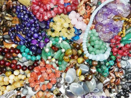 Perle semipreziose fatti di minerali geologiche Archivio Fotografico - 23982734