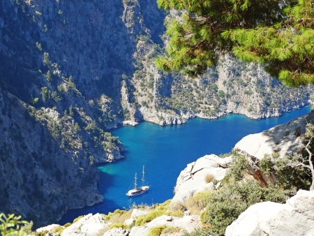 butterfly valley high view canyon fethiye turkey