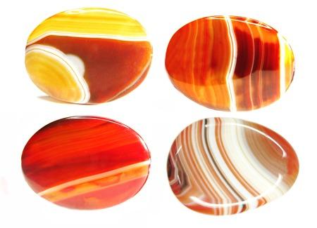 carnelian: carnelian semiprecious red geological crystals isolated Stock Photo