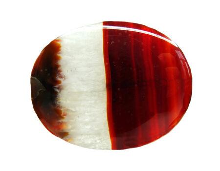 chalcedony: agata con calcedonio cristallo geologico isolato