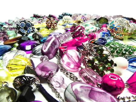 bright crystals beads and rings  fashion  photo