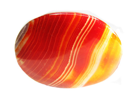 carnelian: red carnelian semigem geological crystal isolated