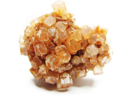 aragonite: aragonite semigem geode crystals geological mineral isolated