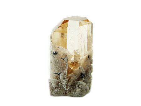 topaz: yellow topaz gem geode crystals geological mineral isolated