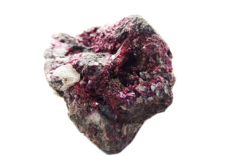geode: erythrite semigem geode crystals geological mineral isolated