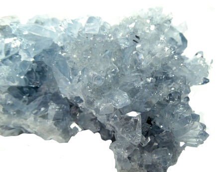 geode: celestite semigem geode crystals geological mineral isolated