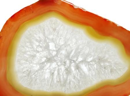 chalcedony: agata con chalcedony cristallo geologico isolato