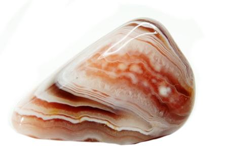 chalcedony: botswana agata con chalcedony cristallo geologico isolato Archivio Fotografico