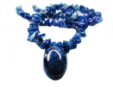 sapphire gemstone beads isolated on white background photo