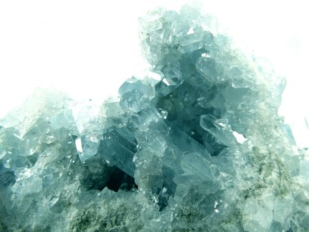 geode: aquamarine semigem geode crystals geological mineral isolated