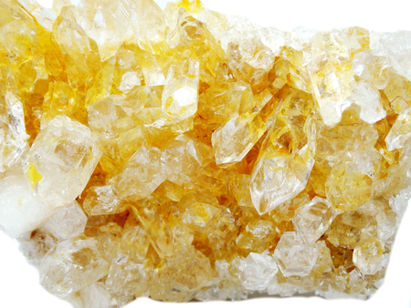 citrine: citrine natural quartz semigem geode crystals geological mineral isolated