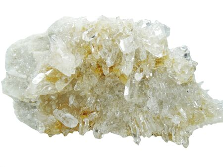 geode: natural quartz semigem geode crystals geological mineral isolated Stock Photo