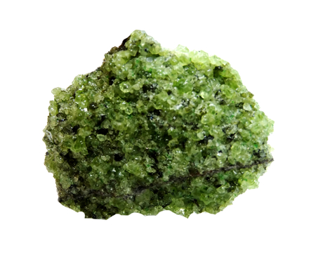 geode: peridote semigem geode crystals geological mineral isolated