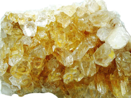 geode: citrine semigem geode crystals geological mineral isolated