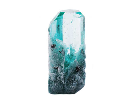 topaz: blue topaz gem crystal geological mineral isolated Stock Photo