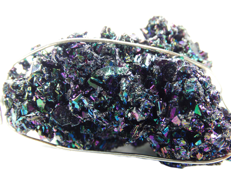 geological: chalcopyrite semigem geological crystal isolated Stock Photo