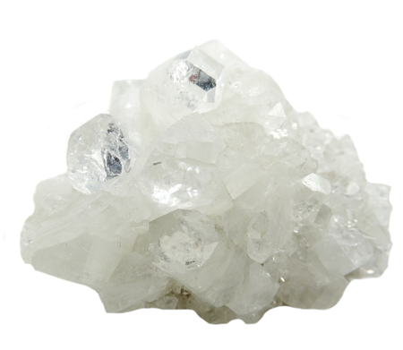 geode: apophyllite semigem geode crystals geological mineral isolated