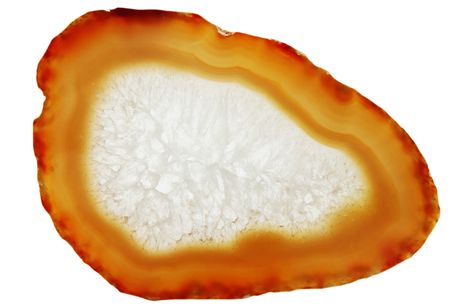 chalcedony: agate with chalcedony geological crystal