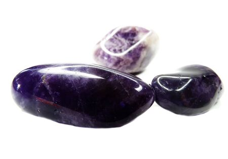 geode: amethyst semigem geode crystals geological mineral isolated Stock Photo