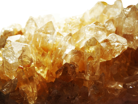 citrine: citrine semigem geode crystals geological mineral isolated