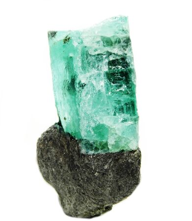 geode: aquamarine gem semigem geode crystals geological mineral isolated Stock Photo