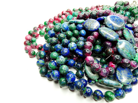 geological: jewelry semiprecious beads made of geological minerals