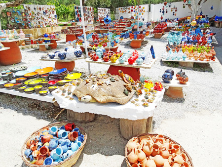 ceramica: greek traditional ceramic shop on Crete Greece