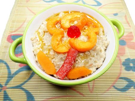 porridge: creative breakfast meal fruit porridge