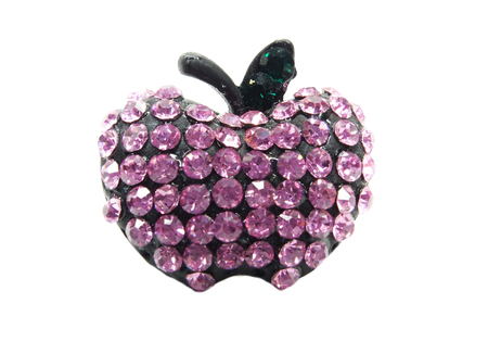 brooch: brooch with bright crystals jewellery                                Stock Photo