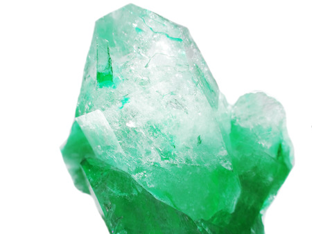 aquamarine quartz semigem geode crystals geological mineral isolated  Stock Photo