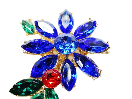 zafiro: jewelry brooch with bright multicolor crystals luxury fashion accessory