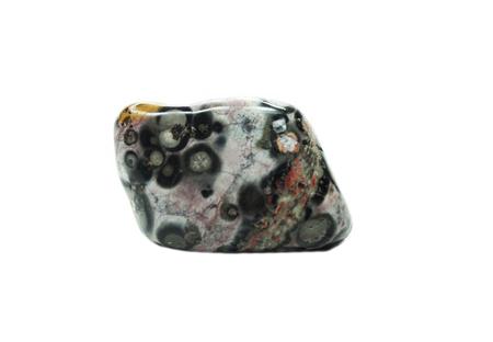 leopard jasper chalcedony quartz semigem geological mineral isolated Stock Photo