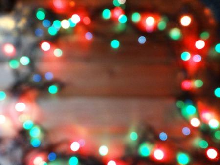 abstract background colorful blurred chrismas light garland 免版税图像