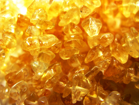 citrine semigem geode crystals geological mineral isolated  Stock Photo