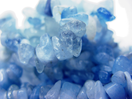 aquamarine natural quartz blue gem geological crystals texture background Stock Photo