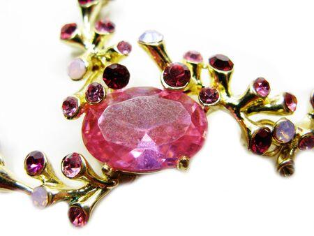 Broche à bijoux avec cristaux multicolores brillants accessoire de mode de luxe Banque d'images - 95875609