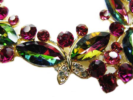 Broche à bijoux avec cristaux multicolores brillants accessoire de mode de luxe Banque d'images - 95875720