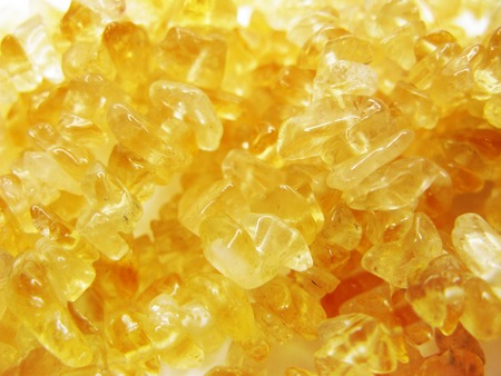 citrine yellow gem geode crystals geological mineral background