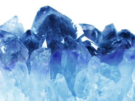 aquamarine natural quartz blue gem geological crystals texture background Banque d'images