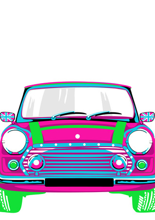 Colorful car for ladies Vector