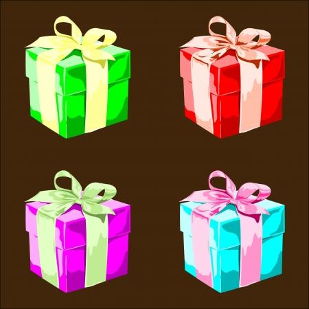 cadeau anniversaire: 4 Cadeau d'anniversaire Illustration