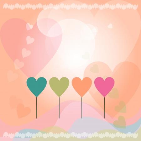 Сard with heart Vector