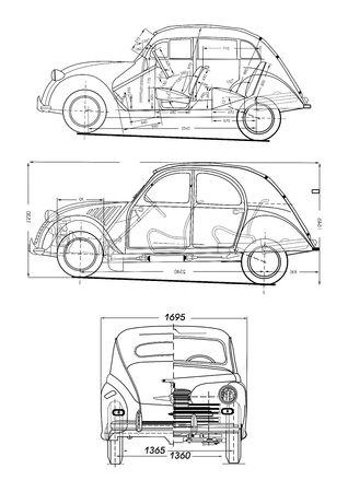 19th: Retro car Illustration