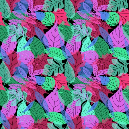 fluorescent leaves Vector