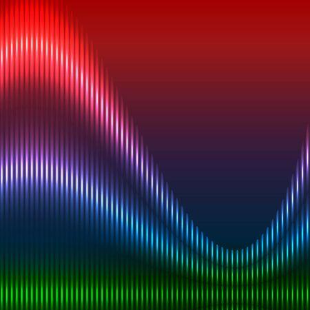 elegantly: Colored waves, vector illustration