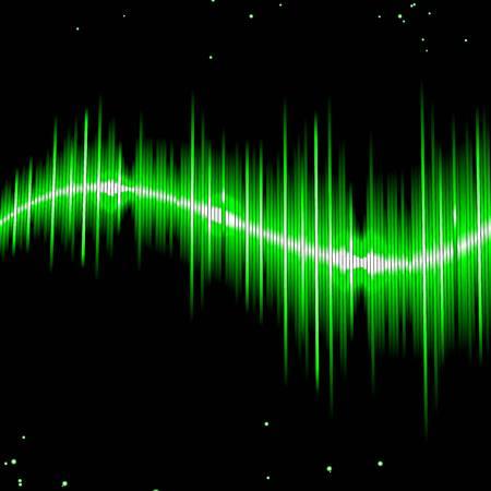 remix: Green wave Illustration