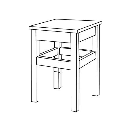 Vector kitchen chair Vector