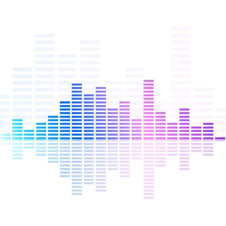 Abstract music equalizer  Vector illustration  Vector